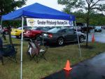 The Starlite car cruise Friday night was a damp affair