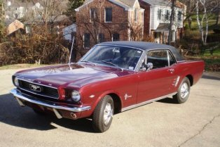 Andrew and Clare's 1966 Mustang