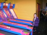 David's daughter at Skeeball