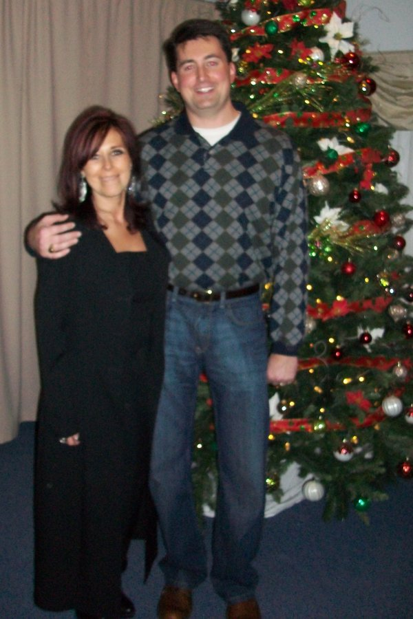 Jacquie and Jason by the tree