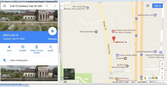 NPL Cranberry address and location