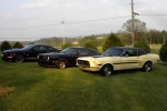 Ron and Alice's 2007 Shelby GT, 1978 Mustang II King Cobra and 1968 California Special