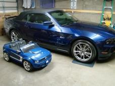 Rich & Lisa-Kona Blue Power Wheels Mustang (Brayden would tell you it's his)