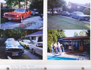 Sept. 26, 1999: Mustang Stamp Party; Borgan's House & McKnight Post Office