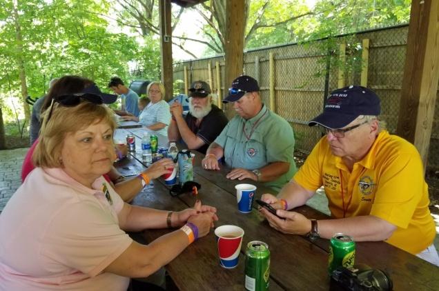 Clockwise from left: Carol, Tim, Denny, Scott