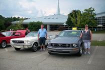 Steve & Kathy brought their his and hers Mustangs