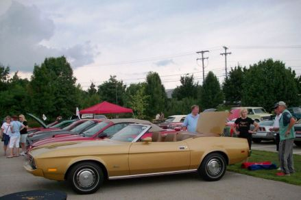 Tom & JoAnne brought their new 1973 Mustang. Does it look familiar?