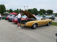 Mark checks out Tom & JoAnne's new 1973 Mustang
