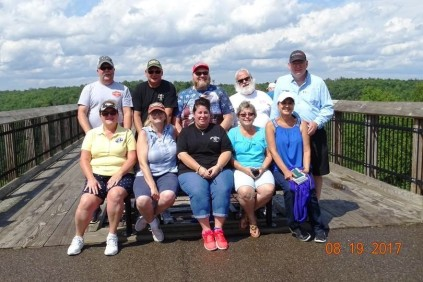 Group picture at end of Kinzua Skywalk