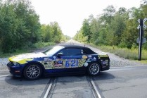 Tim's car on way out of Kinzua Skywalk