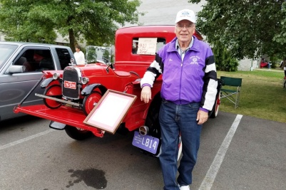 Joe Acker, of the North Hills Historic Auto Club