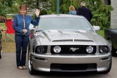 Karen brought her Mustang