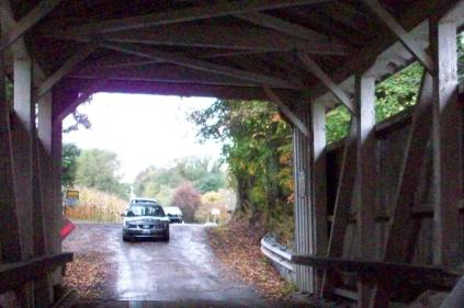 Through the covered bridge