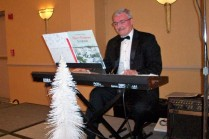 Darrell provided music of the season