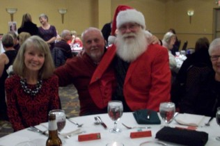 Bonnie, Pat & Santa Ken