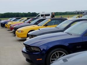 Cars at hangar